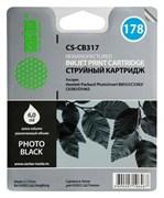 Струйный картридж Cactus CS-CB317 (HP 178) фото-черный для принтеров HP PhotoSmart 7510 C311, 7520, B8553, C309, C310, C410, C5300, C5380, C5383, C6383, D5460, D5463 (6 мл.)
