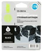 Струйный картридж Cactus CS-CB316 (HP 178) черный для  HP DeskJet 3070A B611, 3522; PhotoSmart 5510 B111, 5520, 7520, B010, B110, B209, B210, B8553, C309, C310, C410, C5300, C5380, C5383, C6383, D5460, D5463 (9,6 мл.)