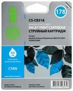 Струйный картридж Cactus CS-CB318 (HP 178) голубой для HP DeskJet 3070A B611, 3522; PhotoSmart 5510 B111, 5520, 7520, B010, B110, B209, B210, B8553, C309, C310, C410, C5300, C5380, C5383, C6383, D5460, D5463 (6 мл.)