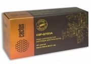 Лазерный картридж Cactus CSP-Q7553A (HP 53A) черный для принтеров HP LaserJet M2727 MFP, M2727nf MFP, M2727nfs MFP, P2010 series, P2012, P2014, P2012n, P2014n, P2015, P2015d, P2015dn, P2015n, P2015x (4000 стр.)