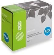 Лазерный картридж Cactus CS-CE255XS (HP 55X) черный для принтеров HP LaserJet M521 Pro 500 MFP, M521dn Pro MFP (A8P79A), M525 MFP, M525c MFP, M525dn MFP, M525f MFP, P3010, P3015, P3015d, P3015DN, P3015N, P3015X (12500 стр.)