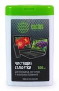 Салфетки Cactus CS-T1005 для планшетов и смартфонов малая туба 100шт влажных
